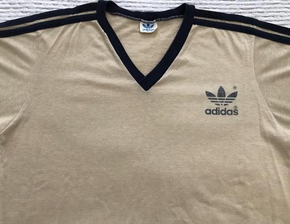 Vintage 70s Adidas Old School 3 Stripe Trefoil V N