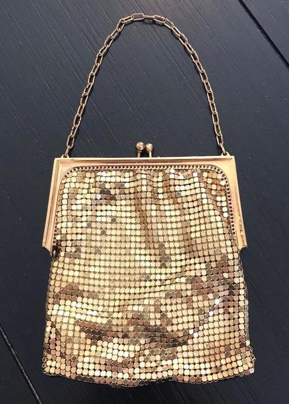 Vintage 30s Whiting And Davis Mesh Handbag