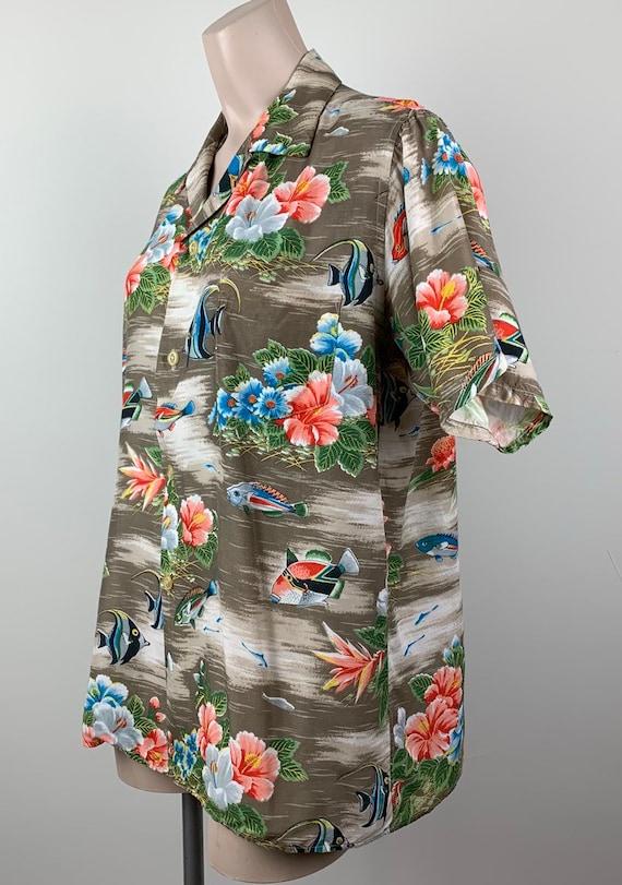 Vintage 50s Mens Aloha Rayon Hawaiian Shirt - image 4