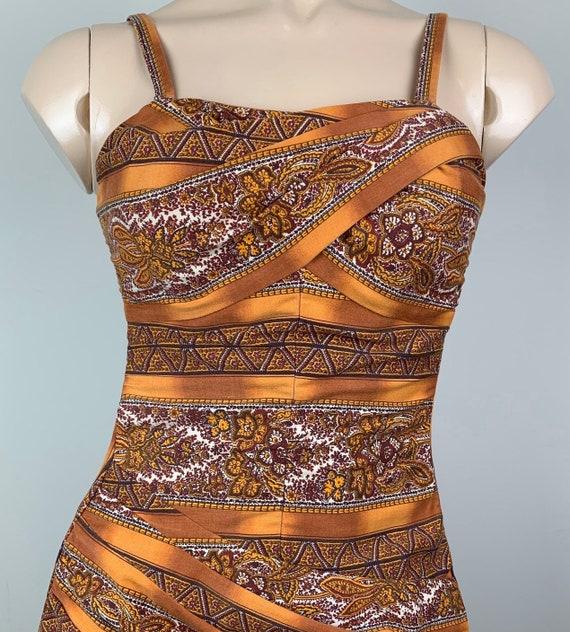 Vintage 50s Paisley Rose Marie Reid Swimsuit