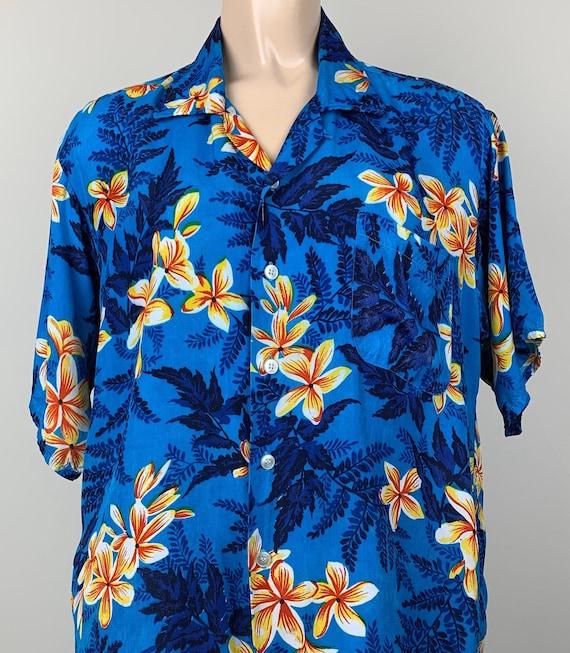 Vintage 50s Mens Kuonakakai Rayon Hawaiian Shirt