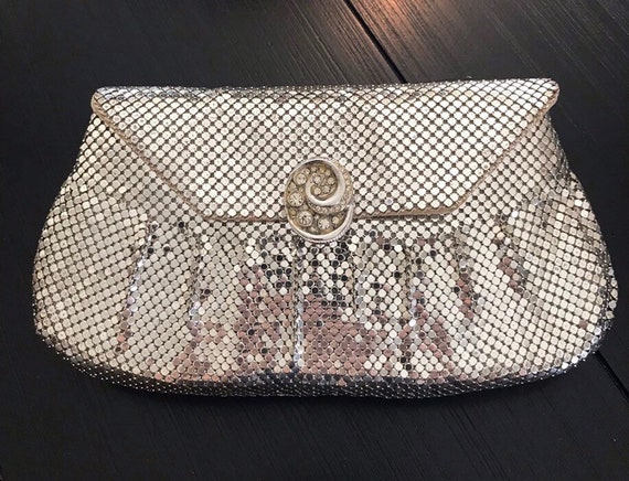 Vintage 30s Whiting And Davis Clutch Bag