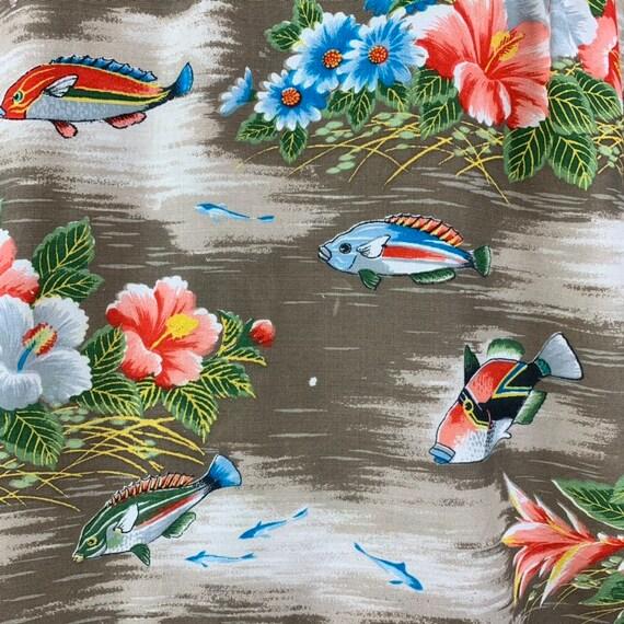 Vintage 50s Mens Aloha Rayon Hawaiian Shirt - image 2