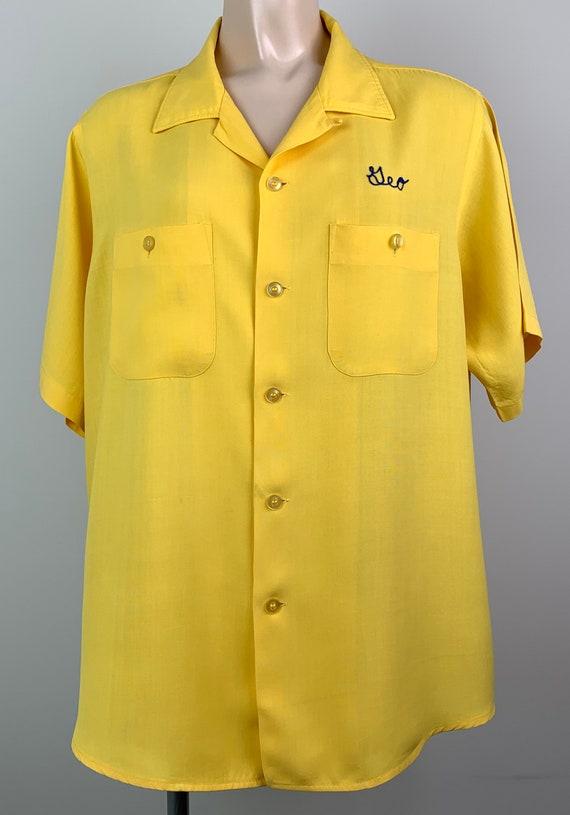 Vintage 50s Mens Rayon Bowling Shirt - image 2