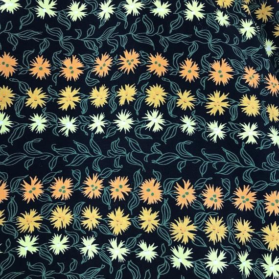 Vintage 50s Marigolds Novelty Print Circle Skirt - image 4