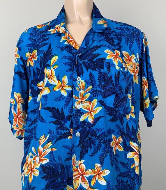 Vintage 50s Mens Kuonakakai Rayon Hawaiian Shirt - image 1