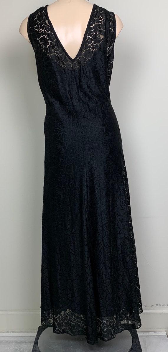Vintage 20s 30s Art Deco Black Lace Dress - image 7