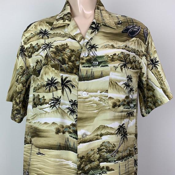 Vintage 50s Mens Penneys Rayon Hawaiian Shirt