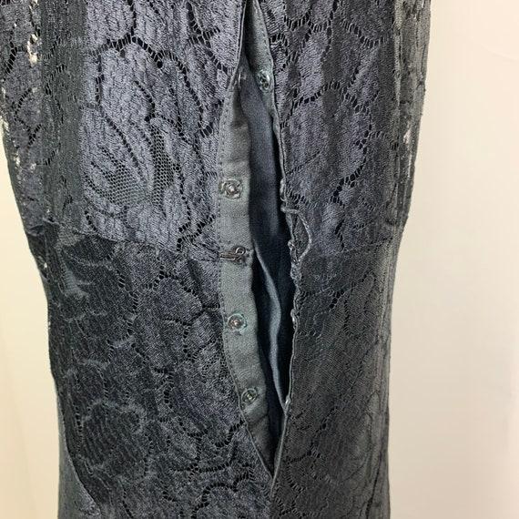 Vintage 20s 30s Art Deco Black Lace Dress - image 8
