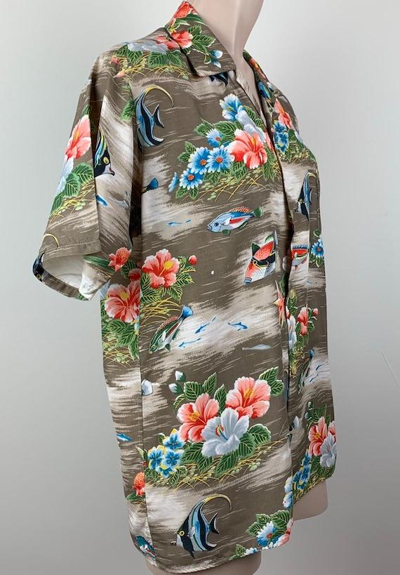 Vintage 50s Mens Aloha Rayon Hawaiian Shirt - image 3