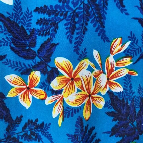 Vintage 50s Mens Kuonakakai Rayon Hawaiian Shirt - image 3