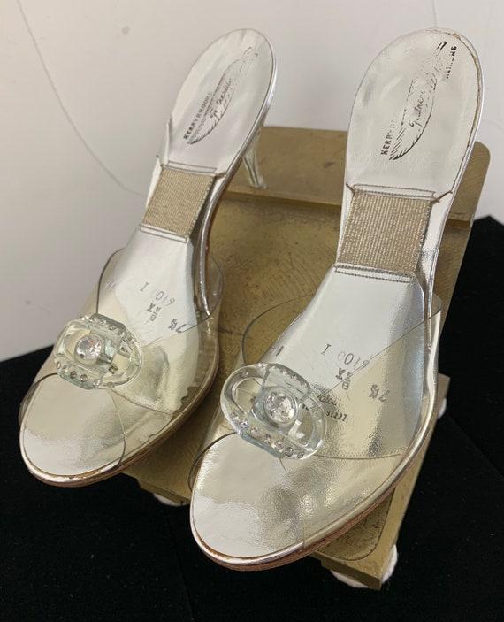 Vintage 50s Silver/Clear Lucite Springolators