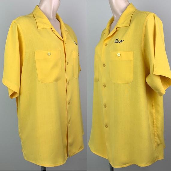 Vintage 50s Mens Rayon Bowling Shirt - image 3