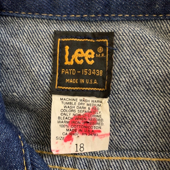 Vintage 70s LEE Denim Jacket Jean Jacket - image 8