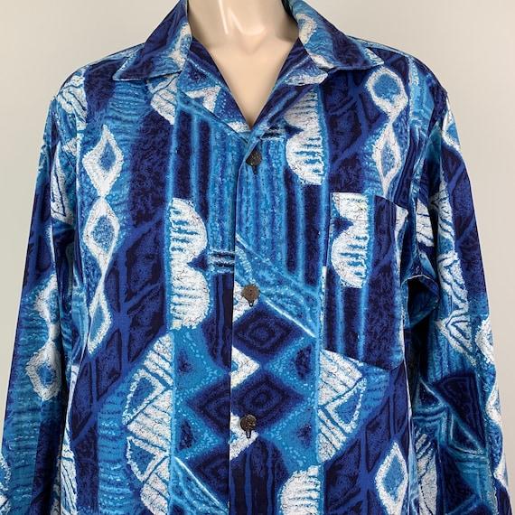 Vintage 50s Mens Cotton Lauhala Hawaiian Shirt