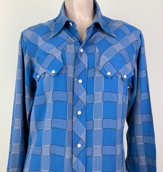 Vintage 50s Mens Penneys RanchCraft Plaid Rayon We