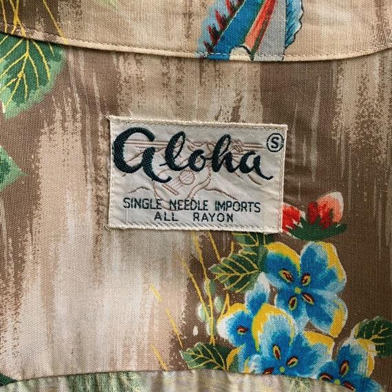 Vintage 50s Mens Aloha Rayon Hawaiian Shirt - image 7