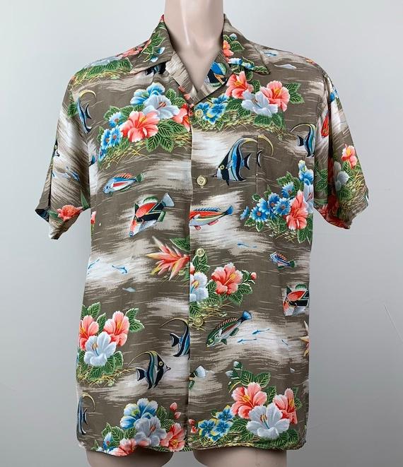 Vintage 50s Mens Aloha Rayon Hawaiian Shirt - image 5