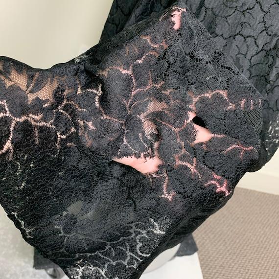 Vintage 20s 30s Art Deco Black Lace Dress - image 9