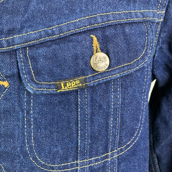 Vintage 70s LEE Denim Jacket Jean Jacket - image 6