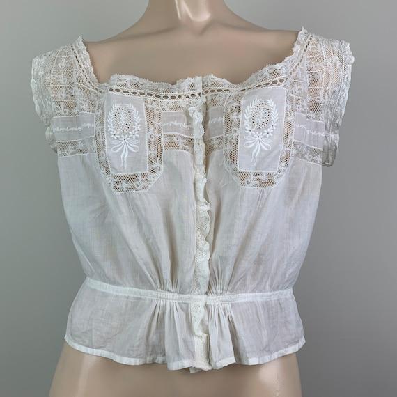 Antique Victorian Edwardian Cotton/Lace Camisole C