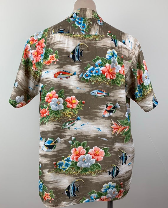 Vintage 50s Mens Aloha Rayon Hawaiian Shirt - image 6