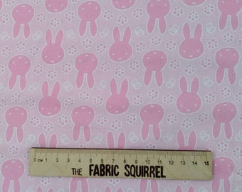 cotton woven cotton Miffy Fabric Miffy silhouette Hot pink//red