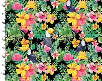 Tropical Fabric Etsy