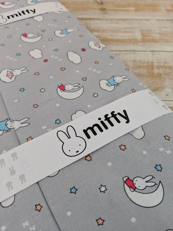 Miffy Grey 5 piece fat quarter bundle OR fabrics per 1//2 metre,100/% cotton