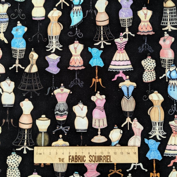 Vintage Look Dress Forms! New TAILOR MADE 27337-J Fabric by QT Fabrics