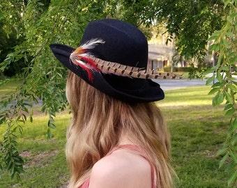 Sandra New York Vintage Pheasant Feather Hat