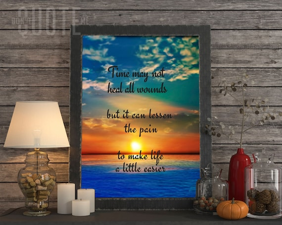 Time Heals All Wounds Printable Quotes Etsy