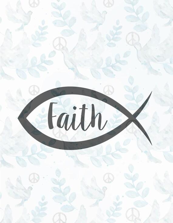 Faith Christian Fish Svg Filejesus Svgfaith Svgchristian Etsy