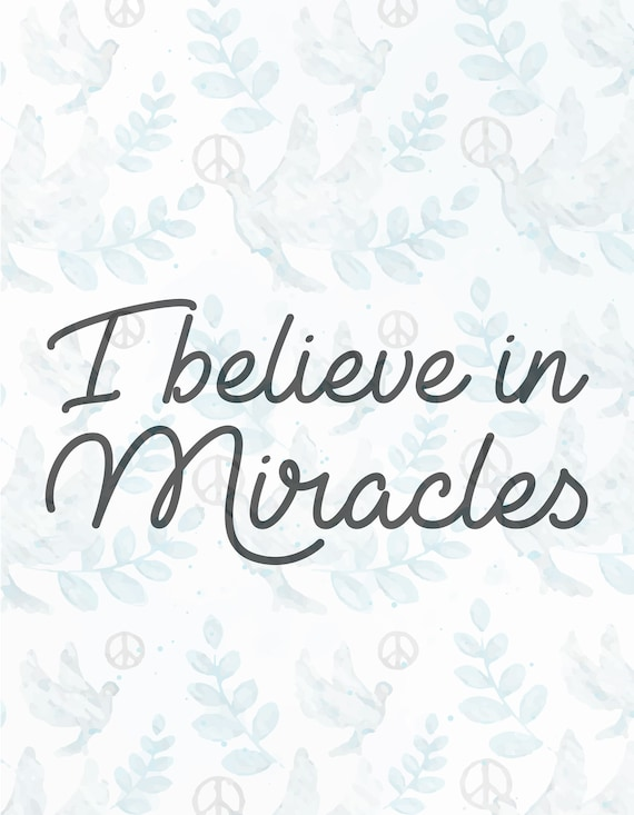 I Believe In Miracles Svg Filejesus Svgfaith Svgchristian Etsy