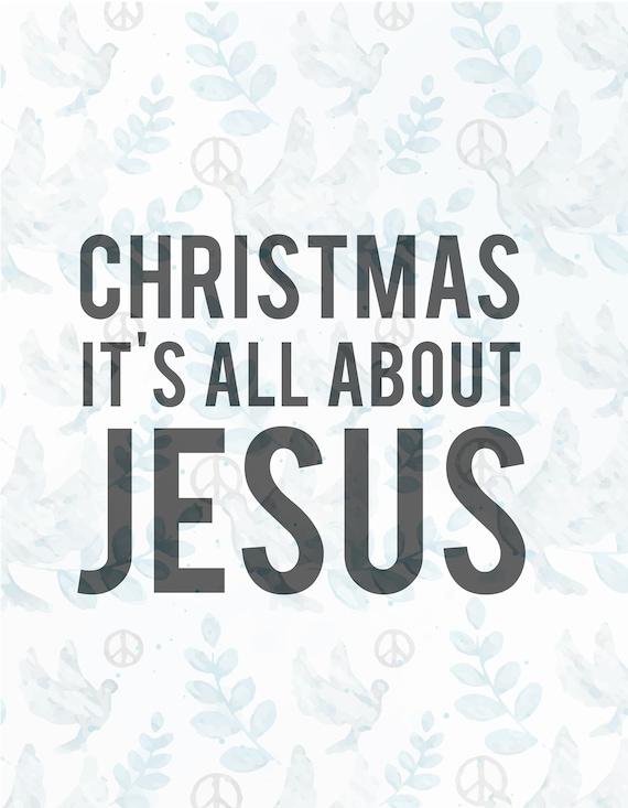 Christmas It S All About Jesus Svg Filejesus Svgfaith Etsy