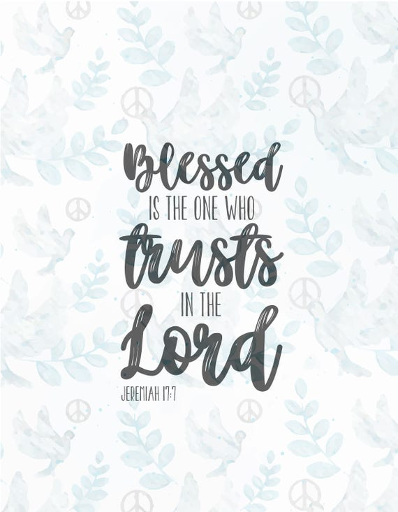 Blessed Is The One Svg File Jesus Svg Faith Svg Christian Etsy