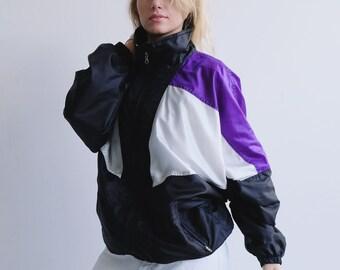 f6e92e494b3b Vintage 90s Adidas Trefoil Track Top Black Adidas Hipster Top