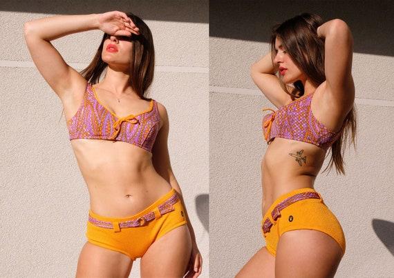 Vintage Triumph 60s 70s Bikini Swimwear Two Piece