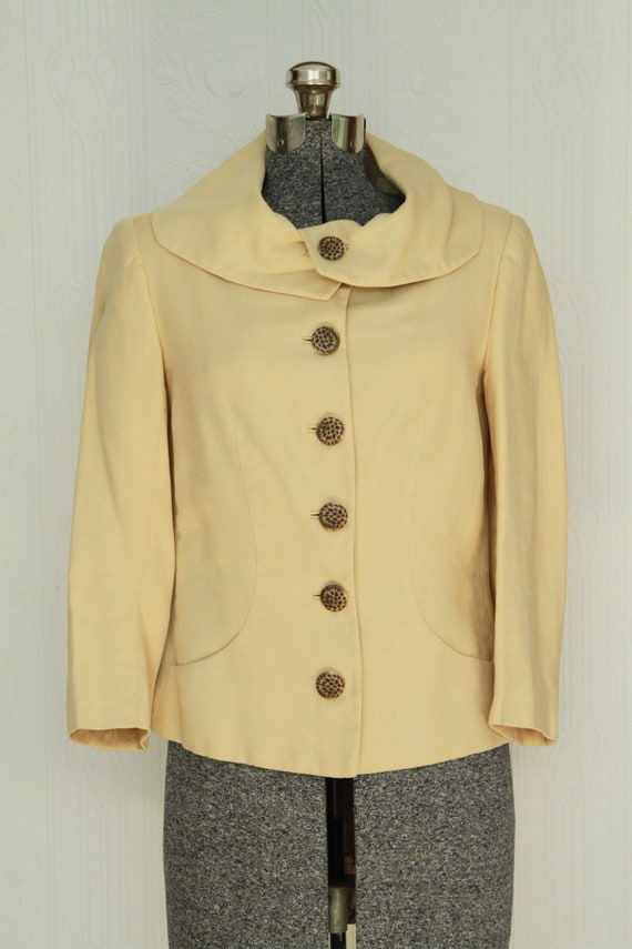 60's summer Jacques Heim linen jacket