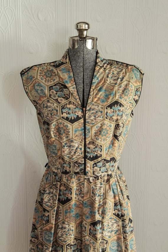 40's or 50's Liberty fabric summer dress