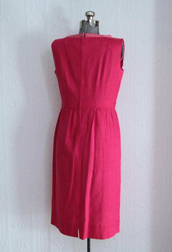 Beautiful early 60's I Magnin linen dress - image 3