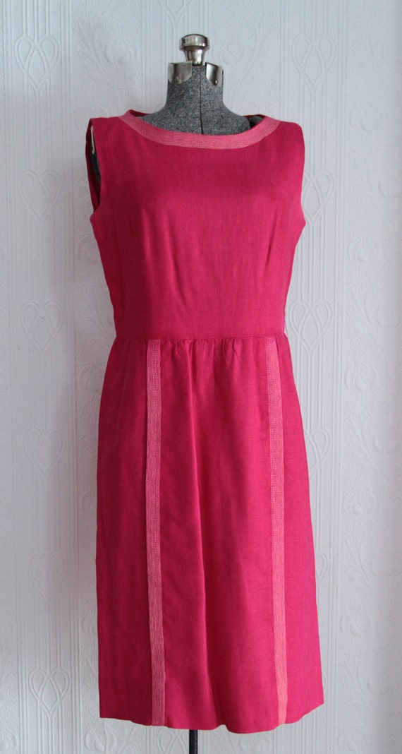 Beautiful early 60's I Magnin linen dress
