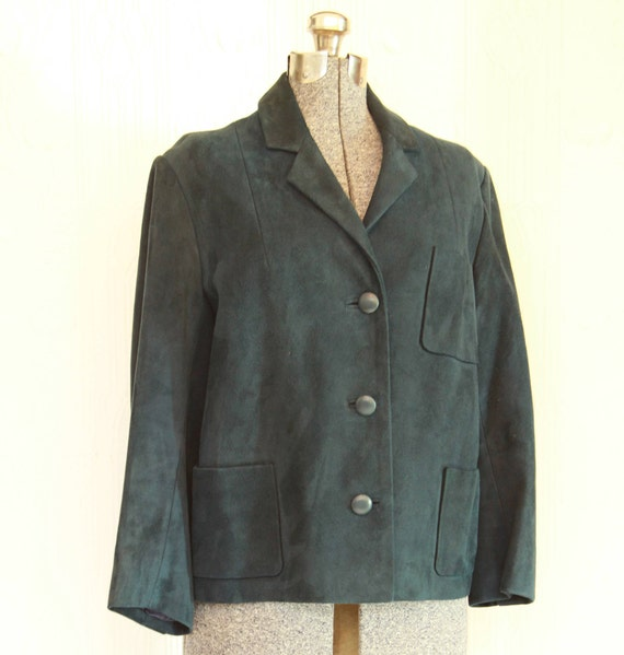 60's Blue suede jacket Small/Medium