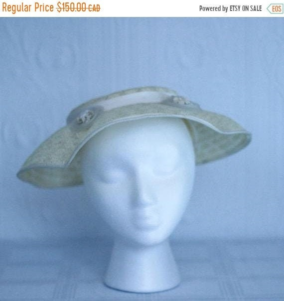 Fall sale - 40's or 50's straw hat