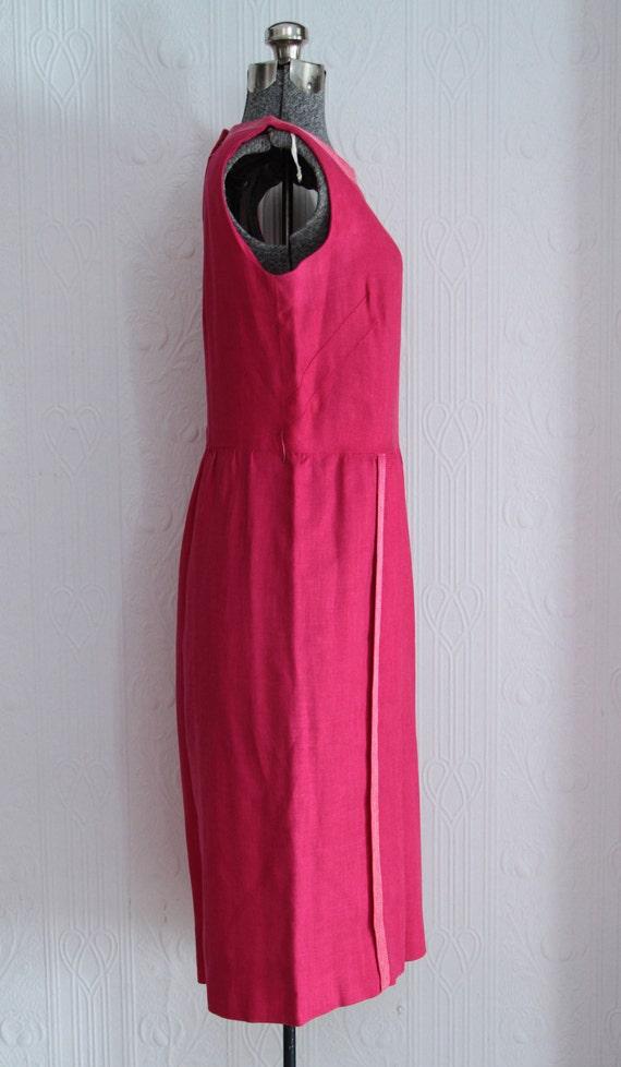 Beautiful early 60's I Magnin linen dress - image 2