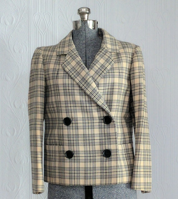 60'S tartan Nan Duskin jacket small/medium