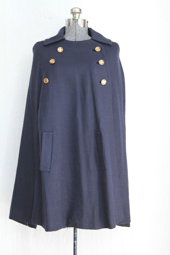 Art Deco 20's 30's wool cape