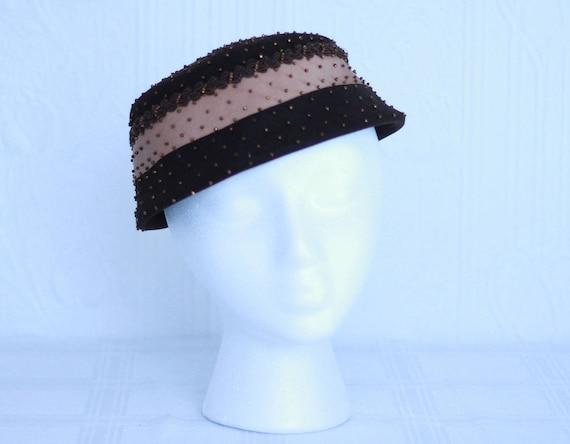 Schiaparelli 50's beaded hat