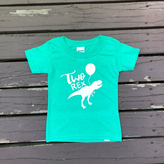 Tops Tees 2nd Birthday Shirt Two Rex Dinosaur For Boys Second TwoRex