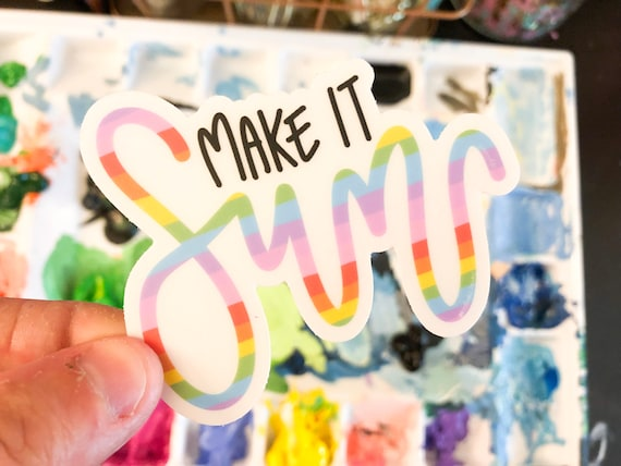 Make It Fun! - Clear Vinyl Sticker